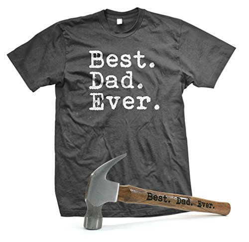 unny Fathers Day Gift T-SHIRT + HAMMER COMBO, XL, Charcoal ()