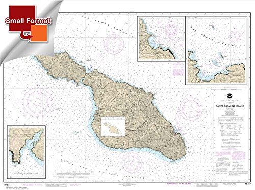 NOAA Chart 18757: Santa Catalina Island; Avalon Bay; Catalina Harbor; Isthmus Cove 21.00 x 28.19 (SMALL FORMAT WATERPROOF)