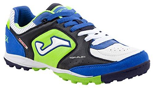 JOMA Top Flex, Chaussures de Futsal Mixte Adulte, Bleu (Navy-Royal), 36 EU