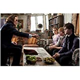 Harry Potter Bill Nighy As Rufus Scrimgeour In Living Room With Harry, Ron, And Hermoine 8 x 10 Inch Photo