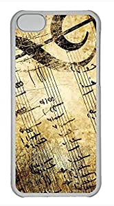 iPhone 5c case, Cute Vintage Music Sheets iPhone 5c Cover, iPhone 5c Cases, Hard Clear iPhone 5c Covers