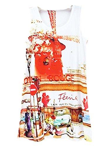 Della Ragazza Donne Della Maniche Al Corto Serbatoi Stampati Vestito Yichun Camicia Tunica Abito Maglietta Usura Conferiscono Mini Lunghe Casual Cime 12 Multicolore z50Undq4n
