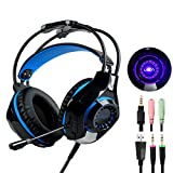 Over-Ear Stereo Bass Gaming Headphones with Microphone Headset for Xbox One PC PS4 Laptop Phone