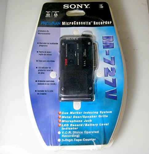 Sony m679v Microcassette Recorder V.O.R. w/ Rechargable AA Battery Kit