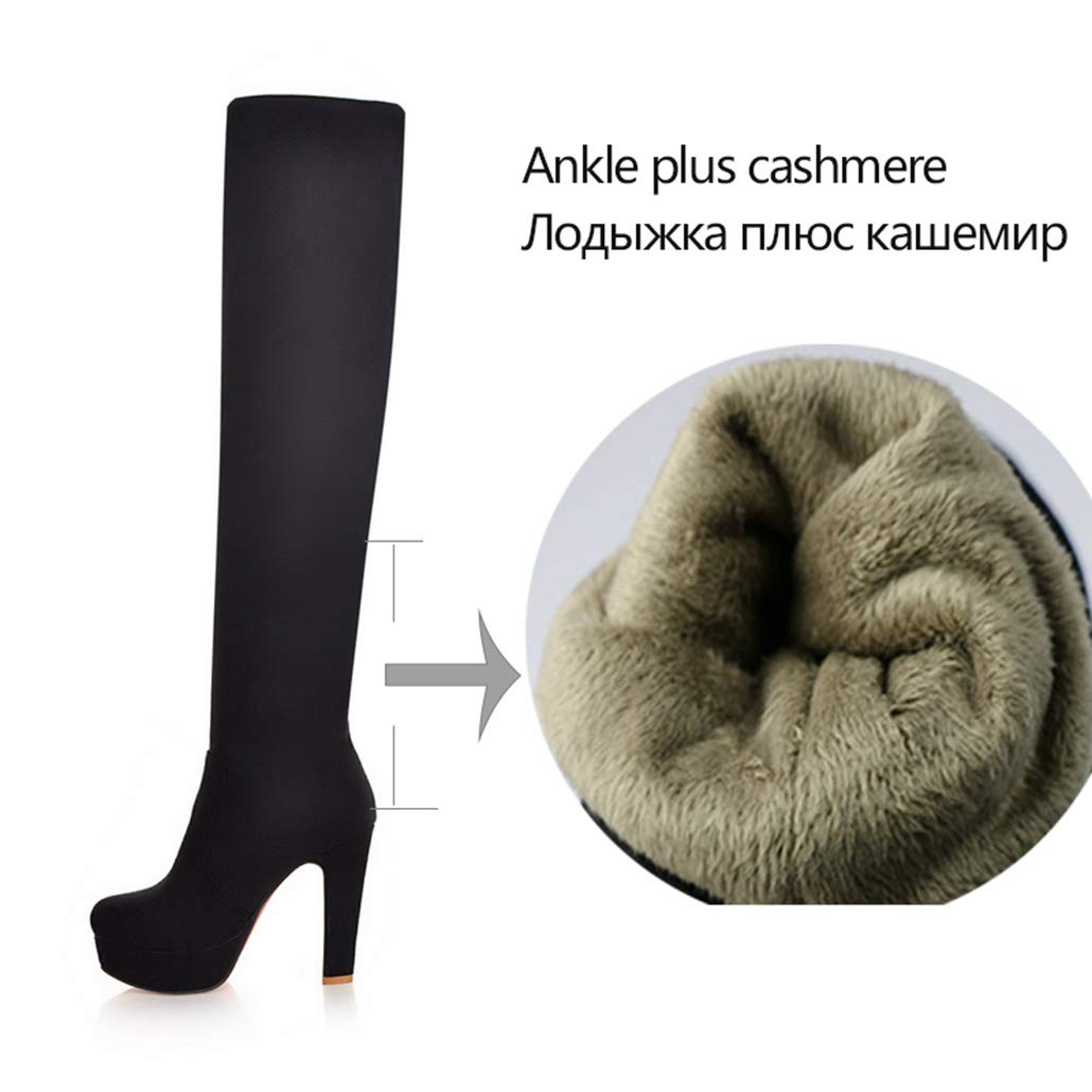 a9f1b4347441a Amazon.com: ODOKAY Over The Knee Boots Sexy Fround toeion Women ...