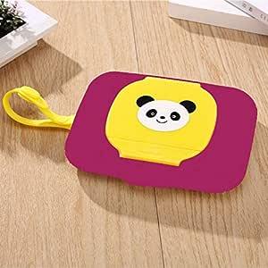 Ruixinshi - Caja dispensadora de toallitas húmedas para Cochecito, portátil, Tapa de Cuerda, Cajas de pañuelos, Color Morado: Amazon.es: Hogar