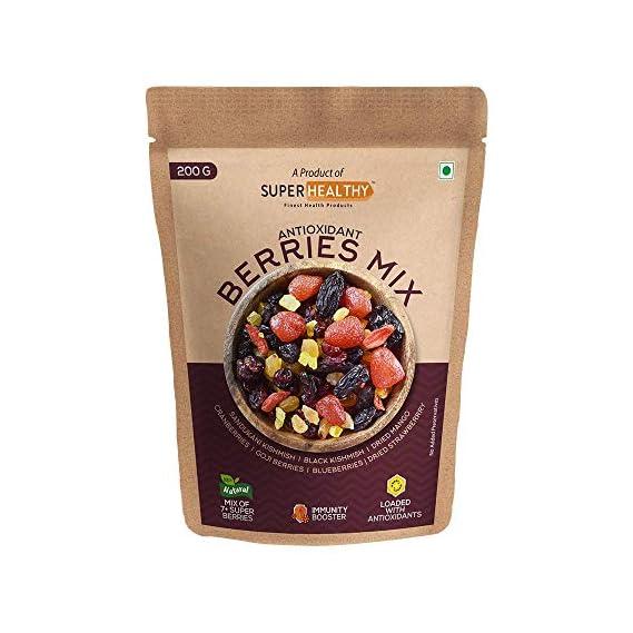 Super Healthy Berries Mix - Dried Mixed Berries | Organic Berry Mix | 7+ Varieties like Cranberries, Blueberries