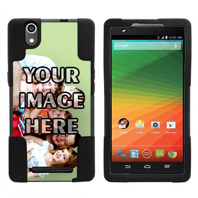 ZTE ZMax Phone Case, *NEW* [Customizable by Buyers] [Create Your Own Phone Case] Dual Layer Shell STRIKE Impact Kickstand Case for ZTE ZMax Z970 (T Mobile, MetroPCS), (Zte Zmax Phone Case Z970)