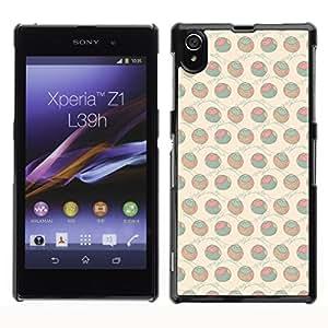ZECASE Funda Carcasa Tapa Case Cover Para Sony Xperia Z1 L39H No.0000503