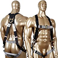 KSEIBI 421026 Fall Protection Safety Harness Kit W 3 D-Rings for Lanyard DELUXE Safety Protection Arrest and Carry Bag