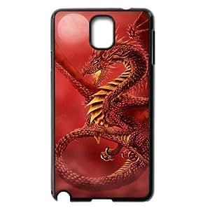 LZHCASE Diy Case Red Dragon For samsung galaxy note 3 N9000 [Pattern-1]