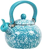 Calypso Basics by Reston Lloyd Whistling Teakettle, 2 quart, Turquoise Marble