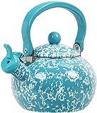 vintage whistling tea kettle - Calypso Basics by Reston Lloyd Whistling Teakettle, 2 quart, Turquoise Marble