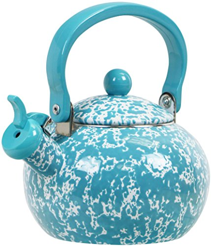 whistling tea kettle turquoise - 1