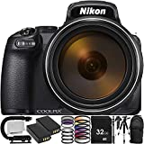 """Nikon COOLPIX P1000 Digital Camera with 12PC Accessory Bundle – Includes 2X Replacement Battery (EN-EL20) + 3PC Multi Coated Filter Kit + 57"""" Tripod + 72"""" Monopod + More (Certified Refurbished) For Sale"""
