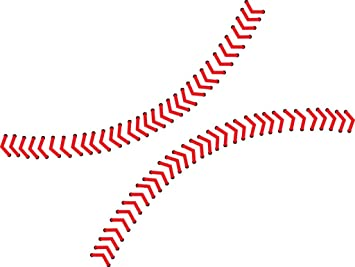 Chic Walls Removable Baseball Seams Stitching Wall Art Vinyl Decal Decor Sticker Mural X Small