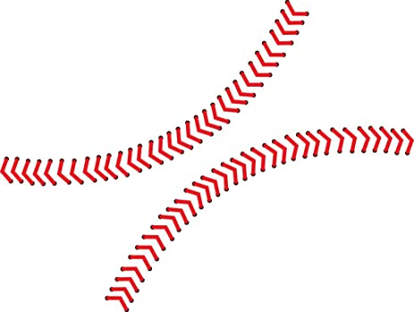Chic Walls Removable Baseball Seams Stitching Wall Art Vinyl Decal Decor Sticker Mural X-Small  sc 1 st  Amazon.com : baseball stitches wall decal - www.pureclipart.com