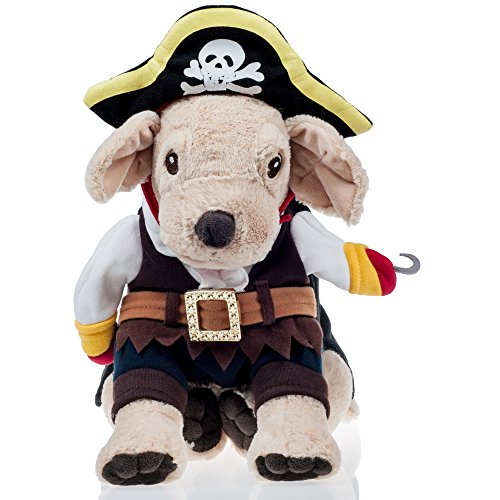 Pirate Costume for Cats and Small Dogs He&Ha Pet Funny Cosplay Clothes for Halloween and Theme Party (Family Costumes Theme)