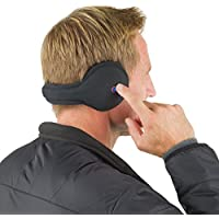 180s Mens & Womens Unisex Bluetooth Ear Warmer, Black 3rd generation