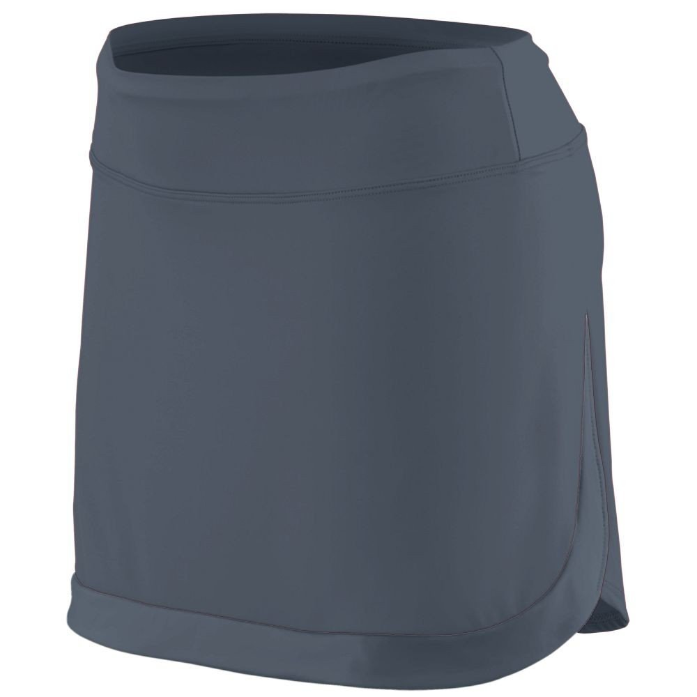 AG2410 AG LAD ACTION CLR BLOCK SKORT GRAPHITE/ GRAPH 2XL