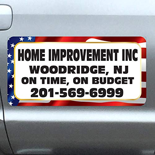 (Vehicle Magnets sign With Custom Lettering 12