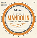 D'Addario EJ67 mandolin strings are great for electric or acoustic mandolin playing. J67 mandolin strings are wound with nickel-plated steel, known for its distinctive bright tone and excellent projection. D'Addario mandolin strings are trusted by le...