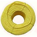 ESSKAY UTTAM Polypropylene Multipurpose Clothesline, Tying and Pulling Rope (Yellow, Standard)