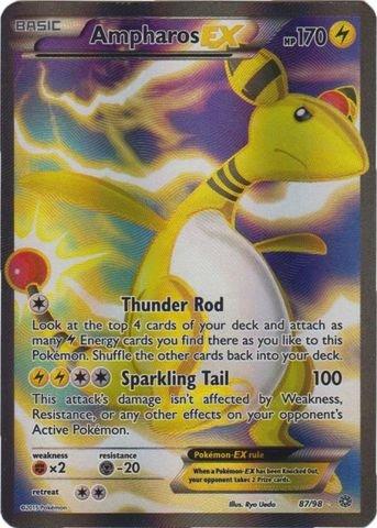 Pokemon - Ampharos-EX (87/98) - Ancient Origins - Holo (Best Electric Type Pokemon X)