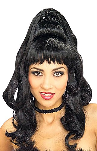 I Dream Of Jeannie Halloween Costume (Forum Novelties Women's Brigitte Wig, Black, One Size)