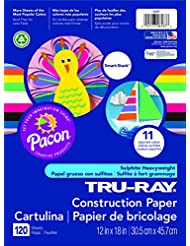Pacon Tru-Ray Assorted Colors Smart Stack Construction Paper,...