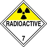 Accuform Signs MPL701VP25 Plastic Hazard Class 7 DOT Placard, Legend ''RADIOACTIVE 7'' with Graphic, 10-3/4'' Width x 10-3/4'' Length, Black on Yellow/White (Pack of 25)