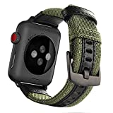 Apple Watch Band 42mm, Maxjoy Nylon iWatch Strap Replacement Bands with Stainless Metal Clasp for Apple Watch Series 3 Series 2 Series 1 Sport and Edition, Army Green