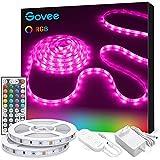 Govee Tiras LED, Luces LED RGB 2 rollos 5m con Control Remoto y Caja de Control, 20 Colores y 8 Modos de Escena para la…