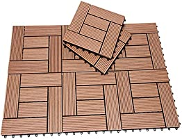 Deuba Set de 44 baldosas losas de WPC Terracota Modelo Mosaico para jardín terraza Exterior Sistema de Encaje 30x30cm: Amazon.es: Jardín