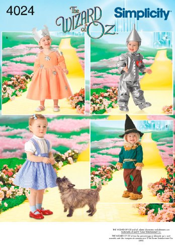 [Simplicity Sewing Pattern 4024 Toddler Costumes, A (1/2-1-2-3-4)] (Three Group Costumes)