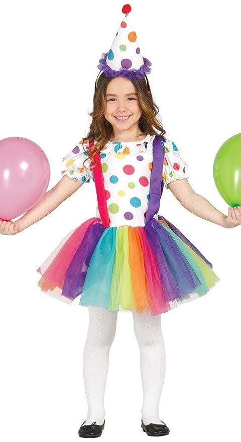 603bfe7b1abc Guirca Costume clown pagliaccio pagliaccetta carnevale bambina 8558_ 7-9  anni