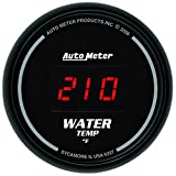"Auto Meter 6337 Sport Comp Digita 2-1/16"" 0-300 F Digital Water Temperature Gauge"