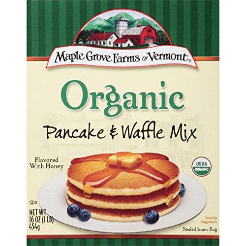 Maple Grove Farms Pancake & Waffle Mix, Organic, 16 Ounce Pack of (Maple Grove Farms Waffle Mix)