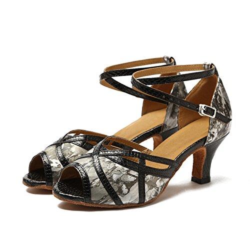Minitoo ,  Damen Tanzschuhe Grey-6cm Heel