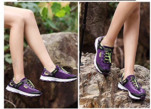 Lightweight Mountaineer Purple Breathability Shoes Hiking Practise Huaishu Shoes Shoes Casual Slip Wearable Shoes Running Leisure Sports Women's Anti U7T6F6Kq