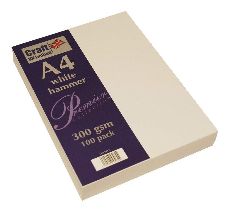 Craft UK Karte A4 ivory weiß, Leinen glatt 100 bis bis bis 500 Blatt, 300 gsm (2 Packungen weiß gehämmert) B07FK2WY8B   Hohe Qualität  0ec003