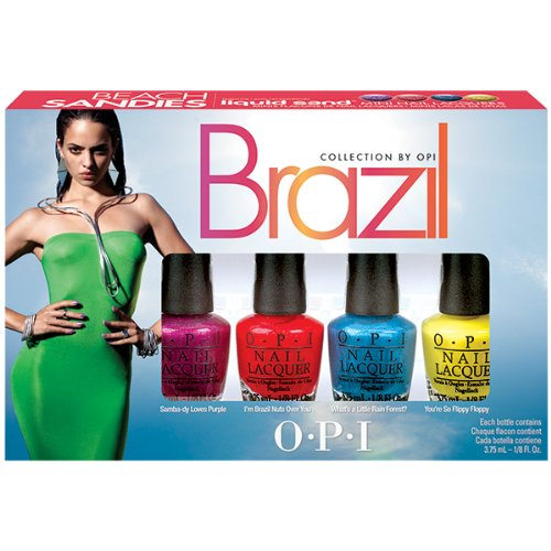 OPI brazil beach sandies liquid sand minis, 1er Pack (4 x 3,75 ml) OPI DCA17