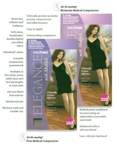 Elegance Panty - Mediven Elegance Pantyhose 30-40 mmHg Closed Toe (III, Mocha)