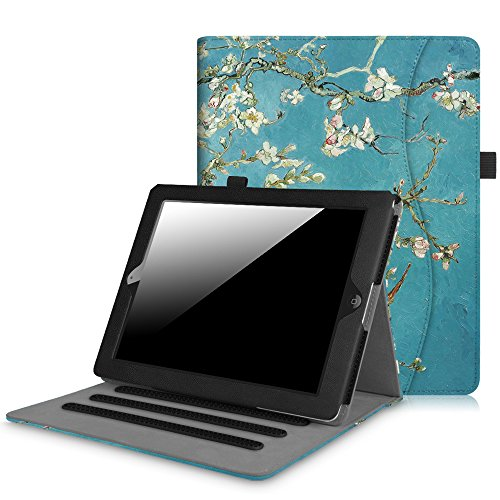 Fintie iPad 2/3/4 Case [Corner Protection] - [Multi-Angle Viewing] Folio Stand Smart Cover with Pocket, Auto Sleep / Wake for Apple iPad 2, iPad 3 & iPad 4th Gen with Retina Display, (4th Gen)