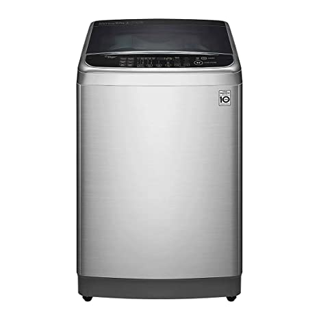LG 10 0 Kg Inverter Fully-Automatic Top Loading Washing Machine  (T1084WFES5A, Stainless Steel, Inbuilt Heater)