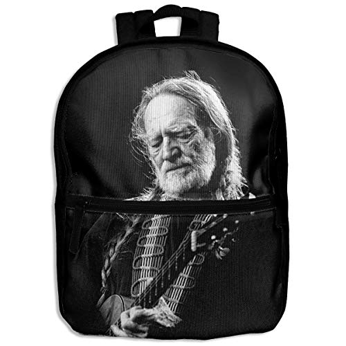 Kid's Backpack For School & Travel & Outdoors Willie Nelson Printed Design ()