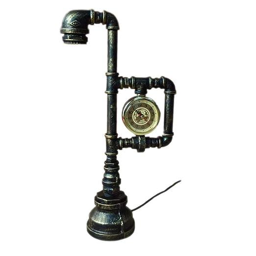 Industrial Retro Pipa de agua Lámpara de mesa Lámpara Vintage ...