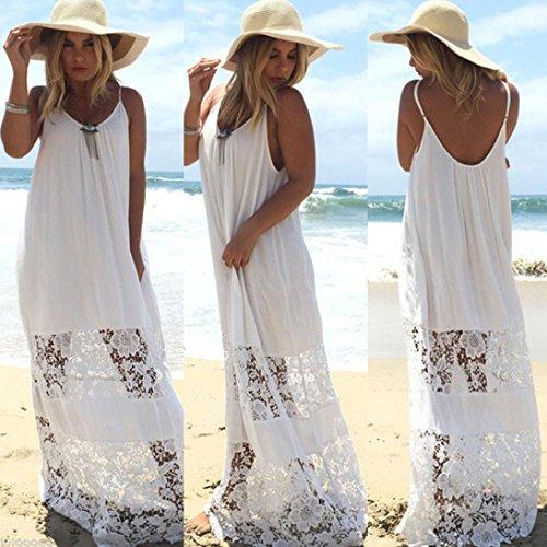 ❀ Sling Beach Kleid ❀ Sexy Frauen Sommer beiläufige Spitze langes ...