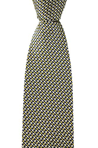 BRIONI dis n 1387 Satin Green Interlocked Micro Pattern 3.25