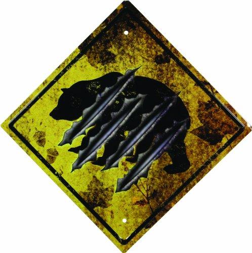River's Edge 1486 Bear Crossing Tin Sign ()